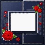 Vintage elegant  blue frame Royalty Free Stock Images
