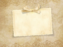 Vintage elegant card for the holiday Royalty Free Stock Image