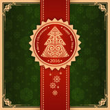 Vintage elegant Christmas New Year greeting card Stock Photos