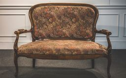 Vintage Elegant Cushion Armchair Furniture royalty free stock images