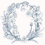Vintage elegant flowers. Flower vector illustration concept for wedding card or invitations. Botany. Stock Photo