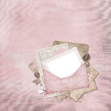 Vintage elegant frame with envelope. For retro-photo vector illustration