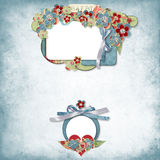 Vintage elegant frame with flowers Royalty Free Stock Images