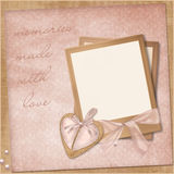 Vintage elegant frame with heart Royalty Free Stock Photos