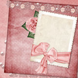 Vintage elegant frame with rose Stock Images
