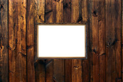 Vintage elegant frame on wooden rough planks Stock Photos