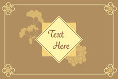 Vintage elegant golden Japanese and Chinese invitation charm car. D template Stock Image