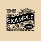 Vintage Elegant Line Art Logo, Emdlem and Monogram Design, vector template.  stock illustration