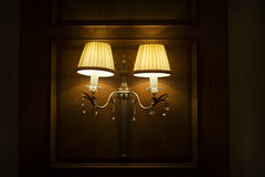 Vintage elegant wall lamp Stock Photo