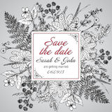 Vintage elegant wedding invitation or card Save the Date  Stock Photos