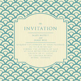 Vintage elegant wedding invitation Stock Image