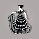 Vintage elegant woman illustration Royalty Free Stock Photo