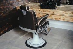 Vintage elegante Barber Chair imagen de archivo libre de regalías