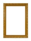 Vintage elegante del marco del oro aislado en el fondo blanco Fotografía de archivo libre de regalías