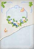 Vintage elegante lamentable que se casa la invitación floral Imagenes de archivo