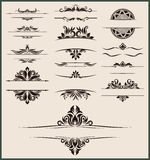 Vintage element and border set vector Stock Photos