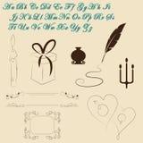 Vintage elements Stock Image
