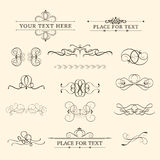 Vintage elements. Calligraphic retro elements, swirls and dividers Royalty Free Stock Photo