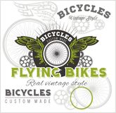 Vintage elements with Bicycle label set template. Stock Images