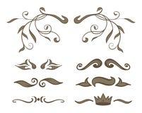 Vintage elements brown. For books royalty free illustration