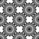 Vintage elements. Monochrome beautiful seamless pattern. Vector illustration Stock Photography