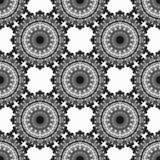 Vintage elements. Monochrome beautiful seamless pattern. Vector illustration Stock Photography