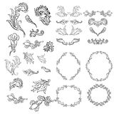 Vintage elements for your design. Hand drawn Stock Image