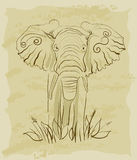 Vintage elephant Royalty Free Stock Photo
