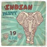 Vintage elephant illustration Royalty Free Stock Photo