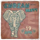 Vintage elephant illustration Royalty Free Stock Photos