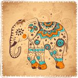 Vintage elephant illustration Stock Photos