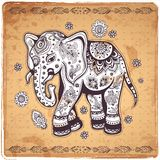 Vintage elephant illustration Stock Photo