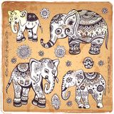 Vintage elephant illustration Royalty Free Stock Photos