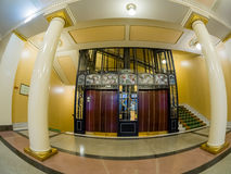 Vintage elevator in Metropol hotel in Moscow, Russia Royalty Free Stock Photos