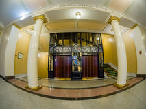 Vintage elevator in Metropol hotel in Moscow, Russia Stock Photo