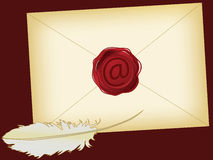 Vintage email Stock Photos