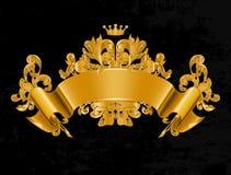 Vintage Emblem. Gold Vintage Emblem, computer illustration Royalty Free Stock Photo