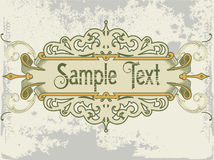 Vintage emblem. Old and vintage design with sample  text Stock Photos