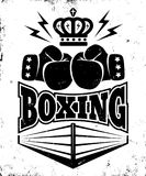 Vintage emblem for boxing. Stock Photo