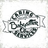 Vintage emblem design. Vintage logo graphic design, print stamp, babysitter typography emblem, Creative design, Vector Stock Photo