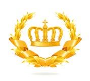 Vintage emblem, gold Stock Photos