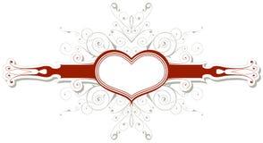 Vintage emblem with heart Stock Photo