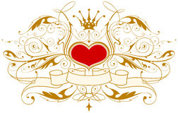 Vintage emblem with heart Stock Image