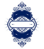 Vintage emblem ribbon Stock Image