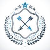 Vintage emblem, vector heraldic design. Stock Image