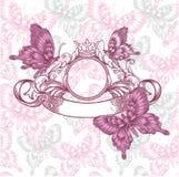 Vintage emblem w Royalty Free Stock Photo