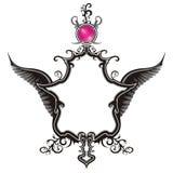Vintage Emblem with wings. An illustration of unique vintage emblem Stock Images