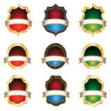 Vintage Emblems Set Stock Photography