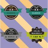 Vintage emblems Stock Images