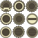 Vintage emblems. Vector set of nine various vintage emblems Royalty Free Stock Images